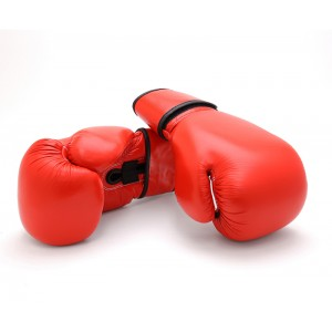 619PR Economy Leather Boxing Glove - Red