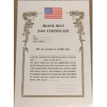 "606B ""Dan"" Black Belt Certificate (for any Martial Arts)"