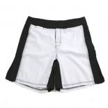 671W MMA Shorts, White/Black