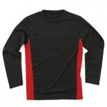 669BR L/S Rash Guard, Black/Red