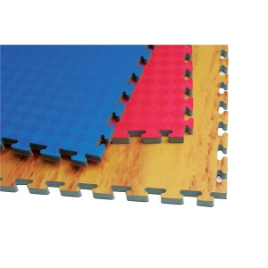 183B Reversible Puzzle Mat - Wooden/Black
