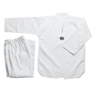 205 TKD - Student V-neck, White