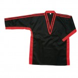 216A V-Neck Jacket, Black & Red