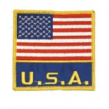 """P1101 (US Flag with """"USA"""") Patch"""