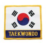 "P1104  (Korean Flag with ""Taekwondo"") Patch"